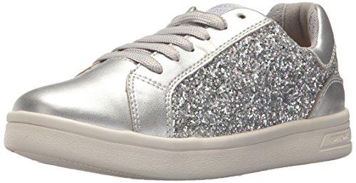 Geox DJ Rock Girl 6 Sneaker Silver 28 M EU Little Kid (10.5 US) ()