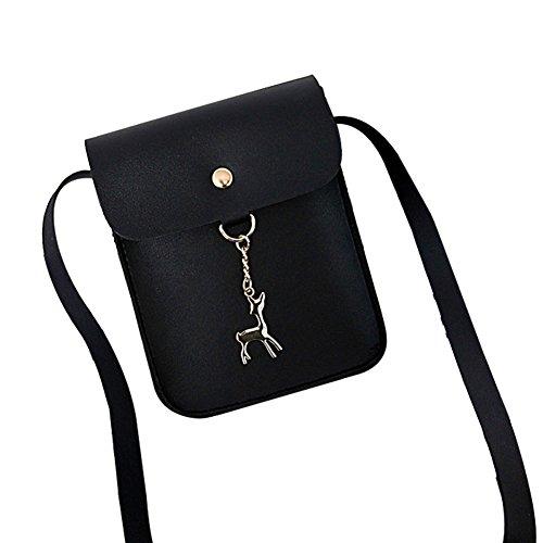 cuir en Noir Joyfeel Femme PU 17cm bandoulière Sacs Noir étanche acheter 3 léger Style Sachet 13 à vertical Sacs Sac wHrxrg