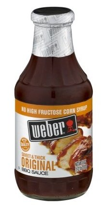 Weber Sweet & Thick Original BBQ Sauce 18 oz.