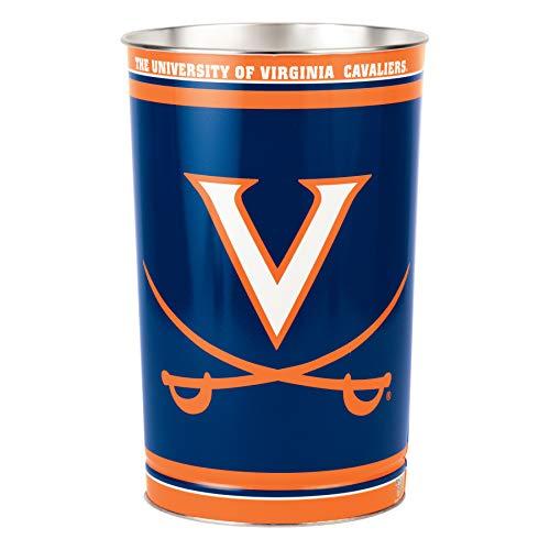 Wincraft Wastebasket - WinCraft NCAA 9797341 University of Virginia Tapered Wastebasket, 15