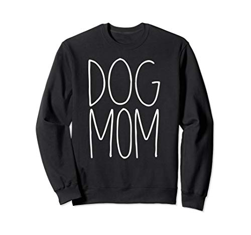 Dog Mom Sweatshirt | Hand Drawn Dog Mom Crewneck Pullover