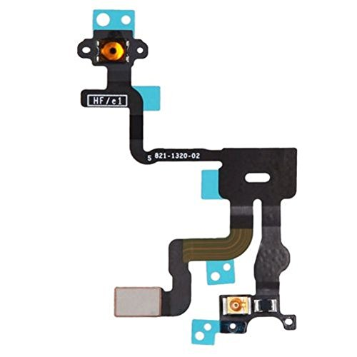 Johncase New OEM Power Button On/Off Switch Proximity Sensor Microphone W/Noise Cancelling Flex Cable Replacement Compatible for iPhone 4s (All Carriers)