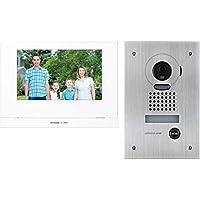 "JOS1FW AIPHONE 7"" Wireless Video Intercom Kit with Jo1mdw, Jodvf & P/S JOS1FW Stainless Steel Flush Mount Camera…"