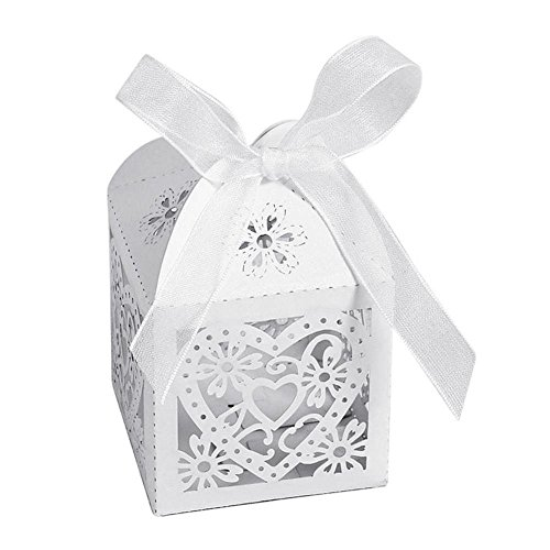 Baby Shower - 10pcs Set Fashion Paper Boxes Love Heart Party Wedding Hollow Carriage Baby Shower Favors Gifts - Dollars Table Package Tower Donation Mint Individual Sell Window Heads Bri
