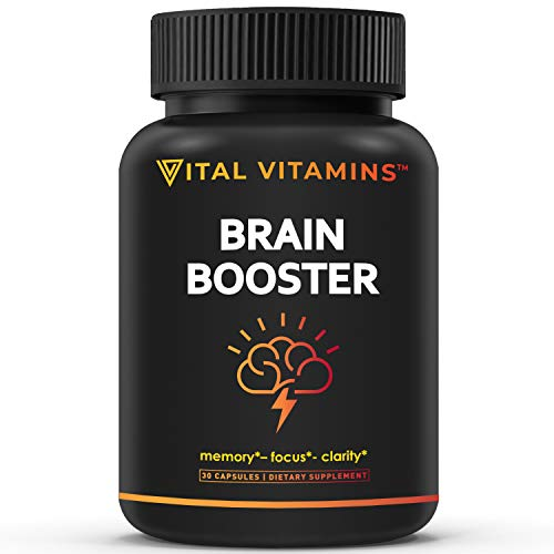 VITAL VITAMINS Brain Supplement Nootropics Booster – Enhance Focus & Mind, Boost Concentration, Improve Memory & Clarity…