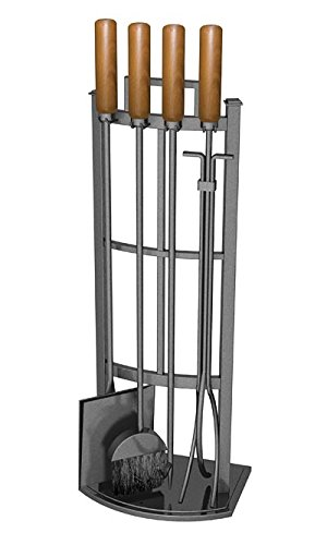 Panacea Products 15037 5PC Fireplace Tool Set, Green (Equipment Fireplace)