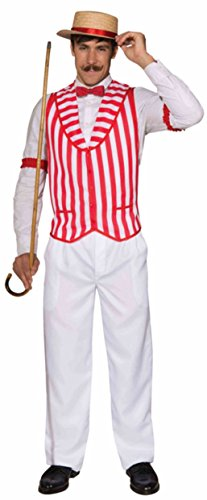 Forum Novelties Barbershop Quartet Vest, Red/White