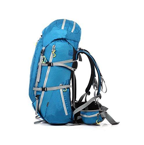Mochilas bolsos de hombro moda hombres montañismo viaje azul