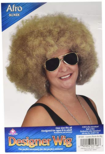 Loftus International Giant 1970's Disco Queen Adult Curly Afro Wig Blonde One Size Novelty Item
