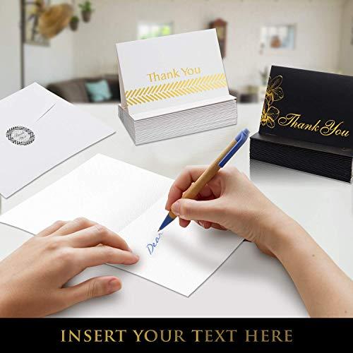 Thank You Cards Bulk Set 100 4x6 Thank You Notes Envelopes