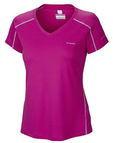 Columbia Zero Rules Short Sleeve T-Shirt, Groovy Pink, Medium