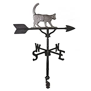 Montague Metal Products 32-Inch Weathervane with Swedish Iron Cat Ornament