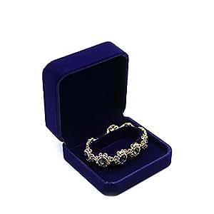 b5516f060 Azul JUNGEN® Caja de Pulsera Organizador de Joyero Joyas Estuche de joyería  con Interior de ...