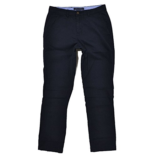 Tommy Hilfiger Mens Custom Fit Chino Pants (40x30, Navy) Tailored Chino