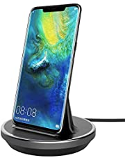 DIGIBAY Desktop Charging Dock for Huawei Mate 40/Mate 30/Mate P30/P30 Pro/P20/P20 Pro/P10/P9/Mate 20/Mate 20 Pro,NXET USB Type-C USB-C Charger Stand Charger Station with Cable Pro Black