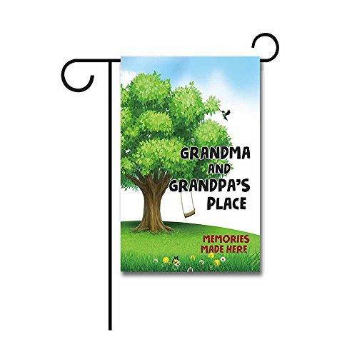 Grandma Places - Kafepross Memorial Day Garden Flag Grandma and Grandpa's Place Banner 12.5