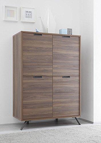 Zenzero Shop Credenza Moderna, Madia di Design, 4 Ante Alta, Legno ...