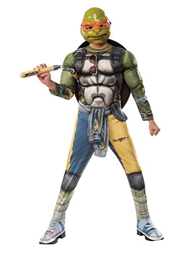 Rubie's Costume Kids Teenage Mutant Ninja Turtles 2 Deluxe Michelangelo Costume