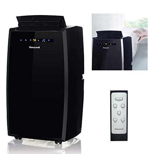 Honeywell MN10CESBB 10000 BTU Portable Conditioner, Dehumidifier & Fan for Rooms Up to 350-450 Sq. Ft. with Thermal Overload Protection, Washable Air Filter & Remote Control, Black