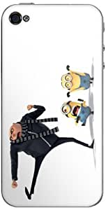 Zing Revolution MS-DMT290133 Despicable Me 2 - Karate Kick Cell Phone Cover Skin for iPhone 4/4S - Retail Packaging - Multicolored