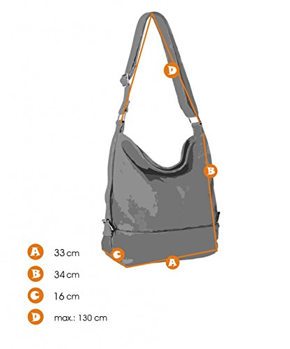 Small Womens Format Golden TS732 Bag Zip CASPAR for Cognac Messenger Shoulder Bag A4 qIAfP5wW