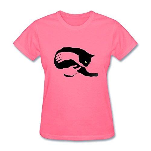 Fulon Women's Cat Short Sleeve Cotton T Shirt