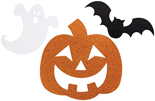 Creative Converting 12 Count Halloween Glitter Cutout, White/Orange/Black for $<!--$7.79-->