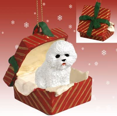 Cute Little Bichon Frise Ornament Gift