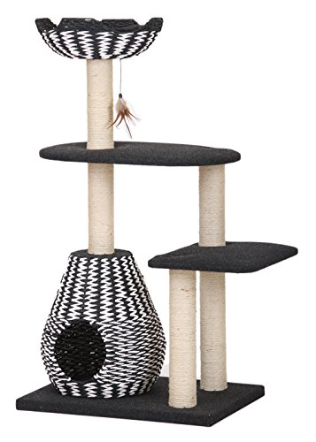 PetPals Ace Four Level Between Paper Rope Perch and Condo