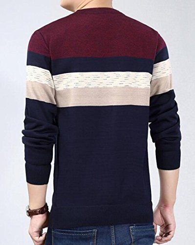 Rugby Long amp;S sweater Mens Zip M Striped 5 sleeve amp;W Quarter q0tnTHw