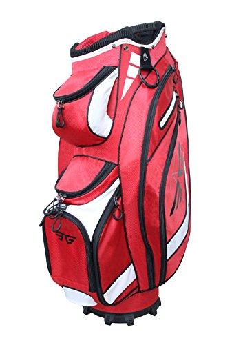 Eagole Super Light Golf Cart Bag,14 way Full Length Divider ,9 Pockets (Red)