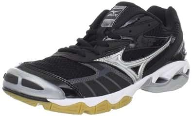 Mizuno Women's Wave Bolt Volleyball Shoe,Black/Silver,6 M US