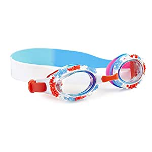 "Bling2o Goggles Kids Swim Goggles - ""Dreamsicle"" Kids Swimming Goggles with Anti Fog UV Protection and Custom Kid Goggles Hard Case"
