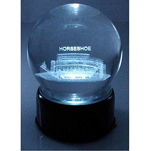 - Sports Collector's Guild NCAA Ohio State Buckeyes The Horse Shoe Laser-Etched Musical Lit Crystal Ball ...