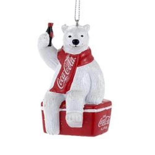 Kurt S. Adler YAMCC1124 Coca-Cola Polar Bear Ornament, 3.5