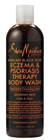 - Shea Moisture African Black Soap Eczema Psoriasis Medicated Cleanser for Sensitive Skin 12 oz
