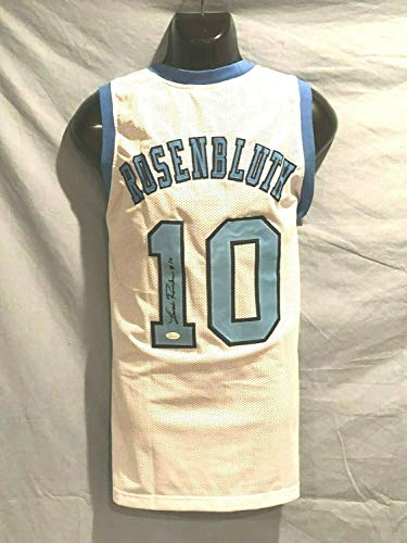 (Unc Tar Heels Lennie Rosenbluth Autographed Signed Memorabilia Custom Pro Style Jersey With - JSA Authentic)