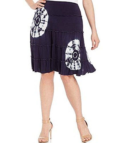 INC International Concepts Plus Size Tie-Dyed Tiered Skirt 3x