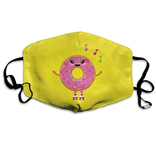 YUANSHAN Dust Mask Cartoon Doughnut Singing Outdoor Mouth Mask Anti Dust Mouth Mask for Man Woman]()