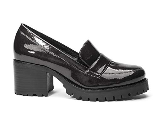Heeled Leighton Jane Women's and Black Shoe the Loafer awwq8XU