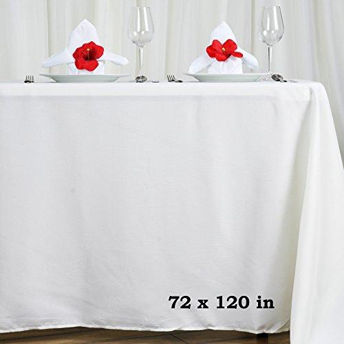LinenTablecloth 70 x 120-Inch Rectangular Polyester Tableclo