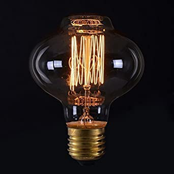 Vintage Light Bulb Retro (Edison Style) E27 Screw - Oval Mushroom