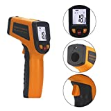 KETOTEK IR Infrared Thermometer Non-contact Digital Laser Infrared Thermometer Temperature Gun -58℉- 1112℉(-50℃ - 600℃)with LCD Display for Kitchen Food Meat BBQ Automotive and Industrial