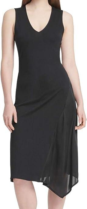 DKNY Women/'s Asymmetrical-Hem Dress