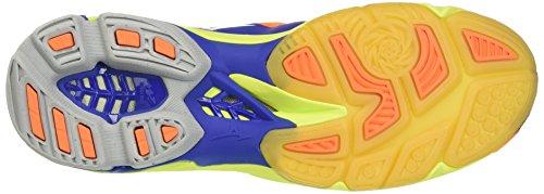 Mizuno Wave Lightning Z3, Scarpe da Pallavolo Uomo Multicolore (Surftheweb/White/Orangeclownfish)