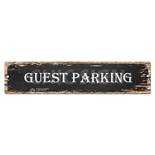 - Guest Parking Plate Sign Vintage Rustic Street Sign Beach Bar Pub Cafe Restaurant shop Home Room Wall Door Decor sign