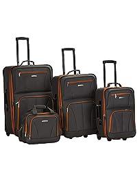 Rockland - Juego de 4 ruedas para equipaje, Carbón, Una talla