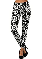 Cheriel Abstract Rose in Black Printed Fashion Legging