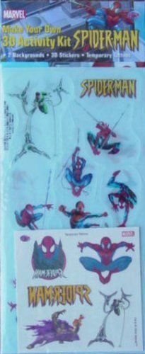 amazon com make your own spider man 3d activity kit by marvel toys