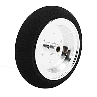 eDealMax Modelo Negro avión ultraligero de velocidad del neumático de la rueda de esponja 53mm x